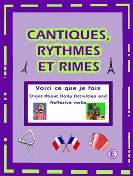 French Reflexive Verbs – French Rap-like Chant with exercises and Mp3