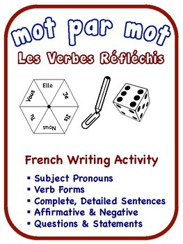 French Reflexive Verbs Writing Activities (6 Versions)