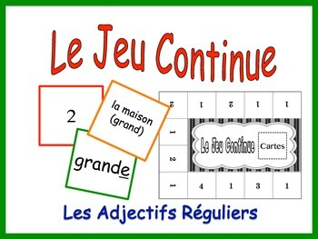 French Regular Adjective Activity for Groups