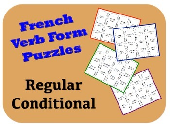 French Regular Conditional Verb Form Puzzle Activity