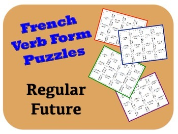 French Regular Future Verb Form Puzzle Activity