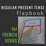 French Regular Present Tense Verbs Interactive Notebook Flapbook