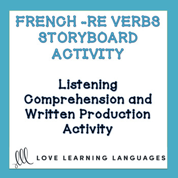 French Regular RE Verbs - Storyboard Listening Comprehension Activity