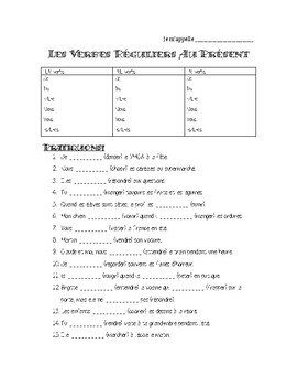 French Regular Verb Practice