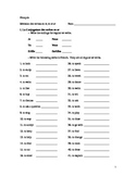French-Regular Verb Review Packet (er, ir, re verbs)