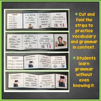 French Regular Verbs Flashcards, Interactive Notebook, ER, IR, RE Verbs Trifolds