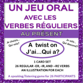French Regular Verbs Speaking Game - Le cercle magique [J'
