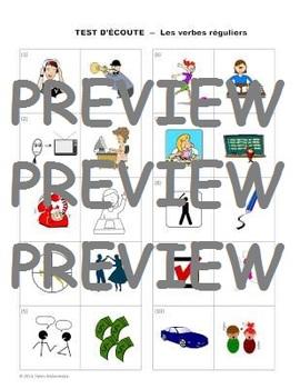 French Regular Verbs (-er, -ir, -re) - Written Practice Exercises + 2 Tests