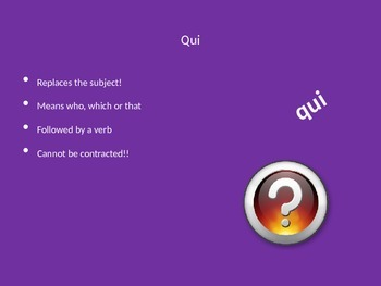 French Relative Pronouns Qui et Que