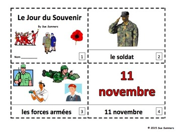 French Remembrance Day 2 Emergent Reader Booklets