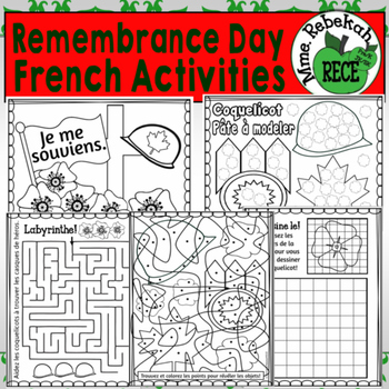 Remembrance Day Activities Canada French