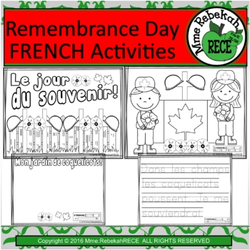 French Remembrance Day Activity (4 pages)