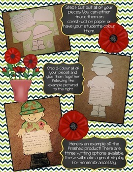 FRENCH AND ENGLISH REMEMBRANCE DAY SOLDIER CRAFTIVITY (LE JOUR DU SOUVENIR)