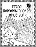 French Remembrance Day Bingo Game - Bingo du Jour du Souvenir - Black and White