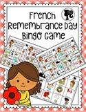 French Remembrance Day Bingo Game - Bingo du Jour du Souvenir - Colour