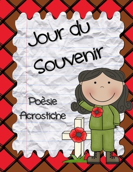 French Remembrance Day ~ Jour du Souvenir Acrostic Poetry Pack