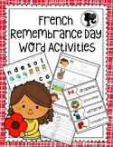 French Remembrance Day Word Activities - Jour du Souvenir Activités des Mots