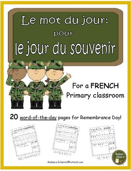 French Remembrance Day (le mot du jour: pour le jour de souvenir)