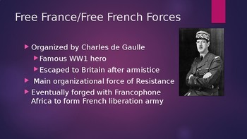 French Resistance during WW2 Powerpoint