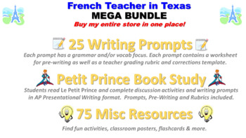 French Resources from French Teacher in Texas: MEGA BUNDLE