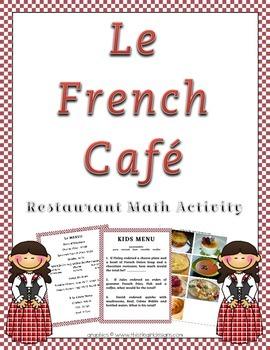 French Restaurant Decimal Math