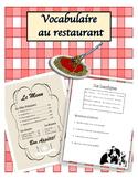 French Restaurant Dialogue & Vocab!
