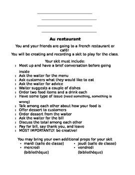 French - Restaurant Skit