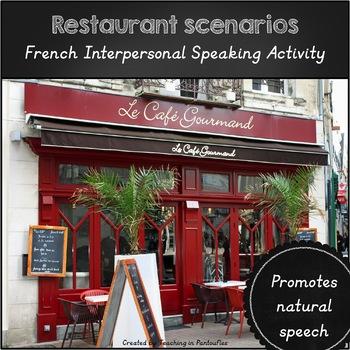 French Restaurant Speaking Activity