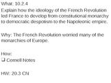 French Revolution - 20.3 powerpoint - French Rev Unit