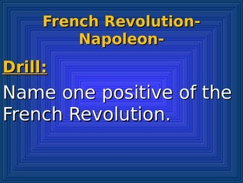 French Revolution 5- Napoleon