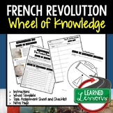 French Revolution Activity, Wheel of Knowledge (Interactive Notebook)