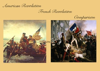 French Revolution-American Revolution Comparison Worksheet