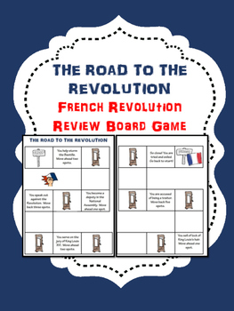 French Revolution Board Game with Questions- Interactive
