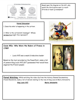 French Revolution (Causes) Day 1
