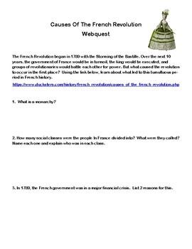 French Revolution- Causes-Webquest