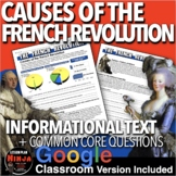 French Revolution Causes of the French Revolution Informational Text