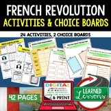 French Revolution Activities, Choice Board, Print & Digital, Google