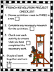 French Revolution Choice Project with Rubric