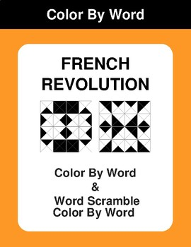 French Revolution - Color By Word & Color By Word Scramble Worksheets