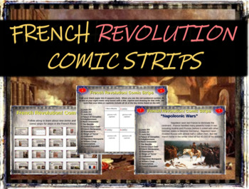 French Revolution Comic Strip Activity - fun, engaging, in