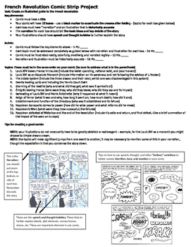 French Revolution Comic Strip Project