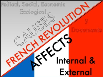 French Revolution Common Core Documents with KEY