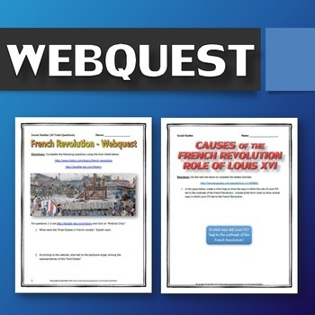 French Revolution - Resource Bundle (PPT's, Projects, Webquests, plus much more)