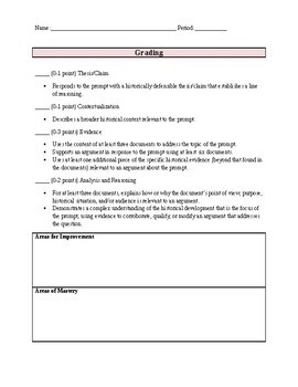 French Revolution DBQ: Document Based Question on the Reign of Terror