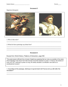 French Revolution DBQ and DBQ Essay Organizer