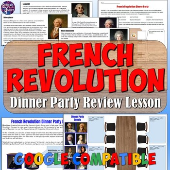 French Revolution Dinner Party Project