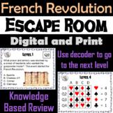 French Revolution: Escape Room - Social Studies
