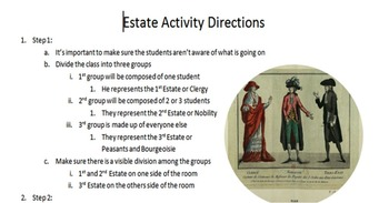 French Revolution Estates Activity