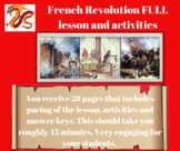 French Revolution FULL lesson and activities