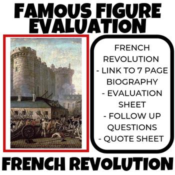 French Revolution Famous Figure Evaluation